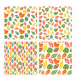 Seamless patterns of autumn leaves