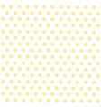 seamless yellow flowers floral pattern vector image