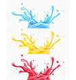 set of splashes water vector image