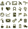 Signs and icons olive color vector image