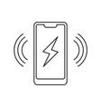 smartphone wireless charging icon vector image vector image