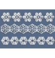 snowflake christmas decorations vector image vector image