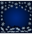 snowflakes with shadow Blue Christmas background vector image vector image