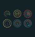 speedometer transport measurements counter vector image