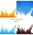 splashes set vector image vector image