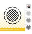sweet pie simple black line icon vector image vector image