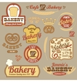 Vintage retro bakery logo badges vector image vector image