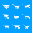 wheelbarrow garden plant icons set simple style vector image vector image