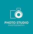white icons for photographer on green background vector image vector image