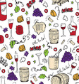Wine sketch and vintage vector image vector image