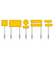 yellow street road sign boards roadsigns alert vector image vector image