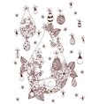 Zen tangl cat sitting in the vector image vector image