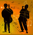 jazz band with singer saxophone vector image