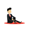 Character isolated business man in black costume vector image