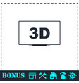 3d television icon flat vector image vector image