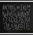 alphabet sharp lines font black vector image vector image