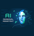 an of an ai personal assistant vector image vector image