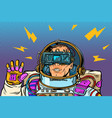 astronaut in virtual reality vr glasses vector image vector image