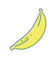 banana fruit food vector image vector image