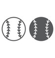 baseball ball line and glyph icon game and sport vector image