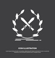 battle emblem game label swords icon glyph symbol vector image