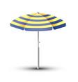 beach umbrella the symbol vector image