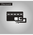 black and white style icon bank card vector image vector image