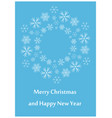 blue greeting card for christmas - leaflet vector image vector image
