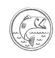 blurred sketch silhouette circular emblem vector image vector image