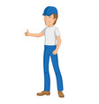builder or worker character vector image vector image