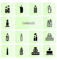 candles icons vector image vector image