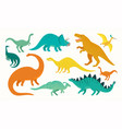 cartoon dinosaur set cute dinosaurs icon vector image vector image