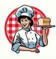 chef woman design vector image