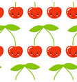 cherry seamless pattern texture for textile vector image