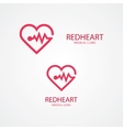combination heart and pulse logo vector image vector image
