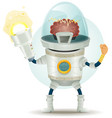 comic scifi droid superhero character vector image