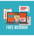Concept for webinar online learning professional vector image