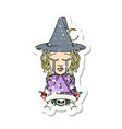 crying elf mage character with natural one dice vector image vector image