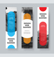 design web banners with color elements vector image vector image