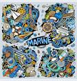 doodles cartoon set marine combinations vector image vector image