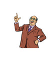 experienced businessman boss successful business vector image vector image