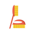 fetlock cleaning brush icon vector image vector image