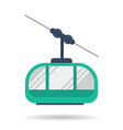 flat cab of the mountain lift icon vector image vector image