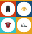 flat icon clothes set of banyan pants sneakers vector image vector image