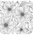 floral seamless pattern flower background nature vector image