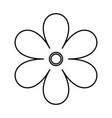 flower black color icon vector image vector image