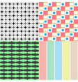 four abstract retro seamless simple patterns eps10 vector image