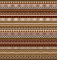 geometrical seamless pattern with african brown vector image vector image