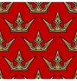 Golden crowns seamless pattern background vector image vector image