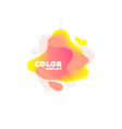 gradient abstract banners with flowing liquid vector image vector image